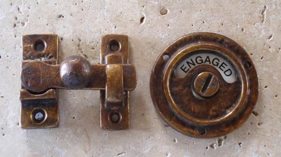 英国製アンティーク加工表示錠