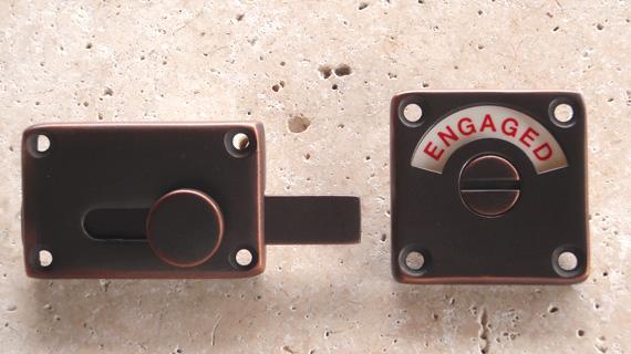 英国製ハンドメイド表示錠(銅)1