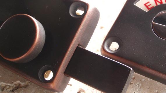 英国製ハンドメイド表示錠(銅)2