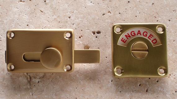 英国製ハンドメイド表示錠(真鍮)1