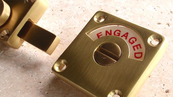 英国製ハンドメイド表示錠(真鍮)2