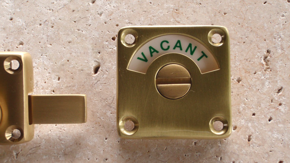 英国製ハンドメイド表示錠(真鍮)3