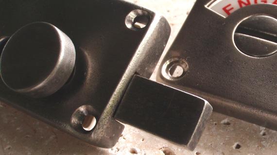 英国製ハンドメイド表示錠(ニッケル)2