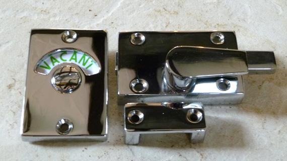 長方形型の表示錠(クロム鏡面仕上げ)