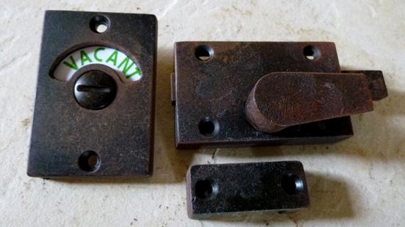 長方形型の表示錠(アンティーク加工)