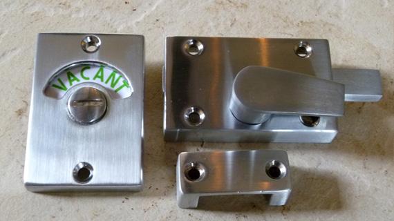 長方形型の表示錠(クロムつや消し)