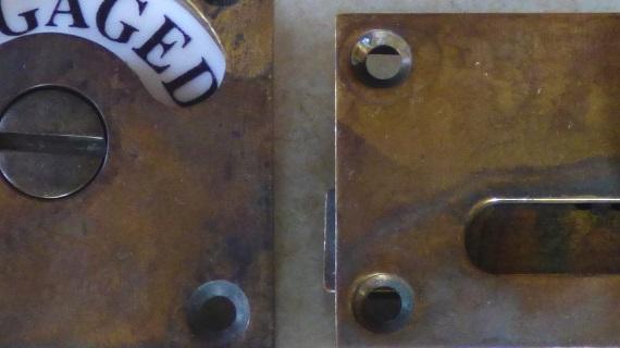 アンティーク加工真鍮表示錠