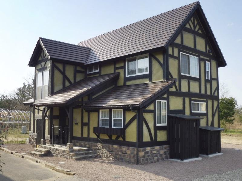 ハーフティンバーの家