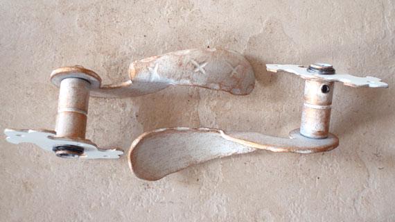 イタリア製アンティーク・ゴールド・ホワイト仕上げのレバーハンドル